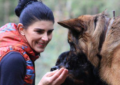 Bianca Moosbrugger mit Rottweiler & Altdeutschem Schaeferhund