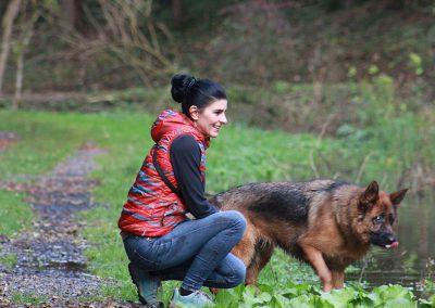 Bianca Moosbrugger mit Altdeutschem Schäferhund